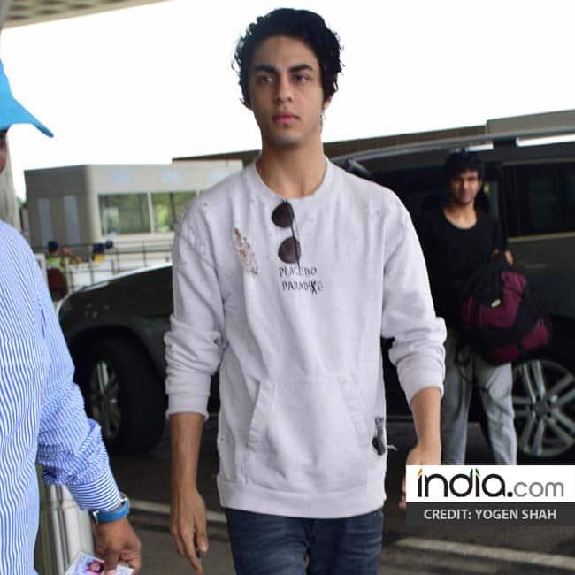 Aryan Khan snapped looking dapper at Mumbai airport