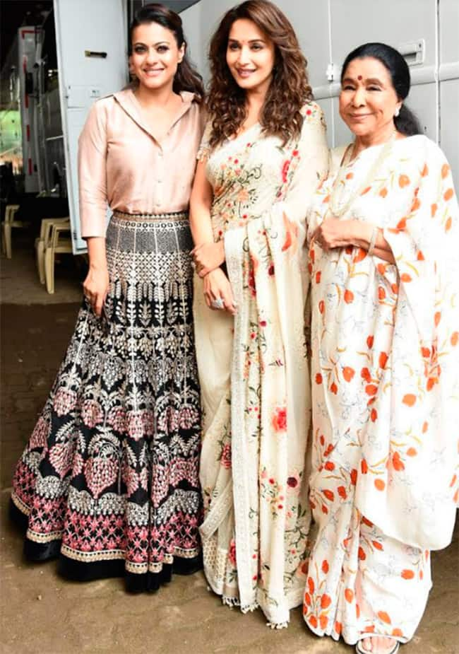 Asha Bhosle  Madhuri Dixit  and Kajol in one frame