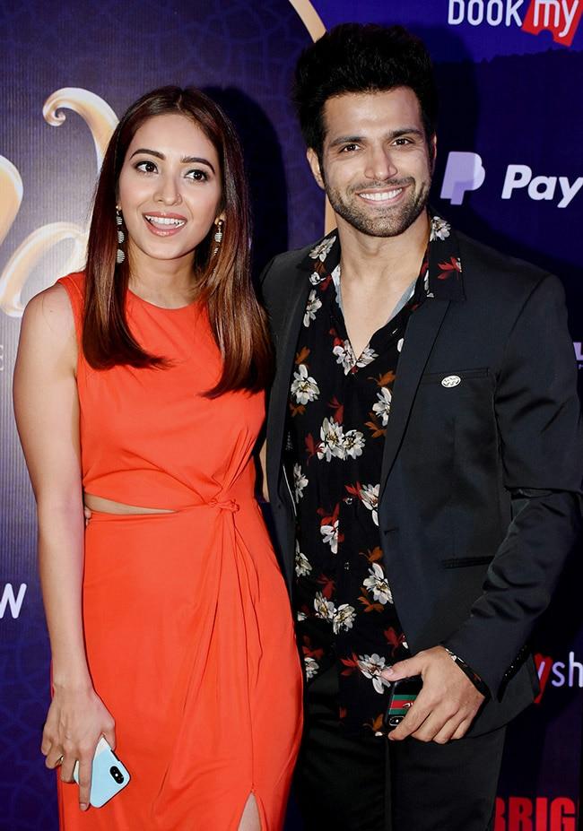 Asha Negi with boyfriend Rithvik Dhanjani at Aladin musical broadway