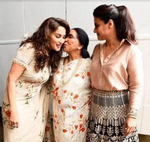 Asha Bhosle, Madhuri Dixit And Kajol Reunite on The Sets of Dance Deewane - See Pics