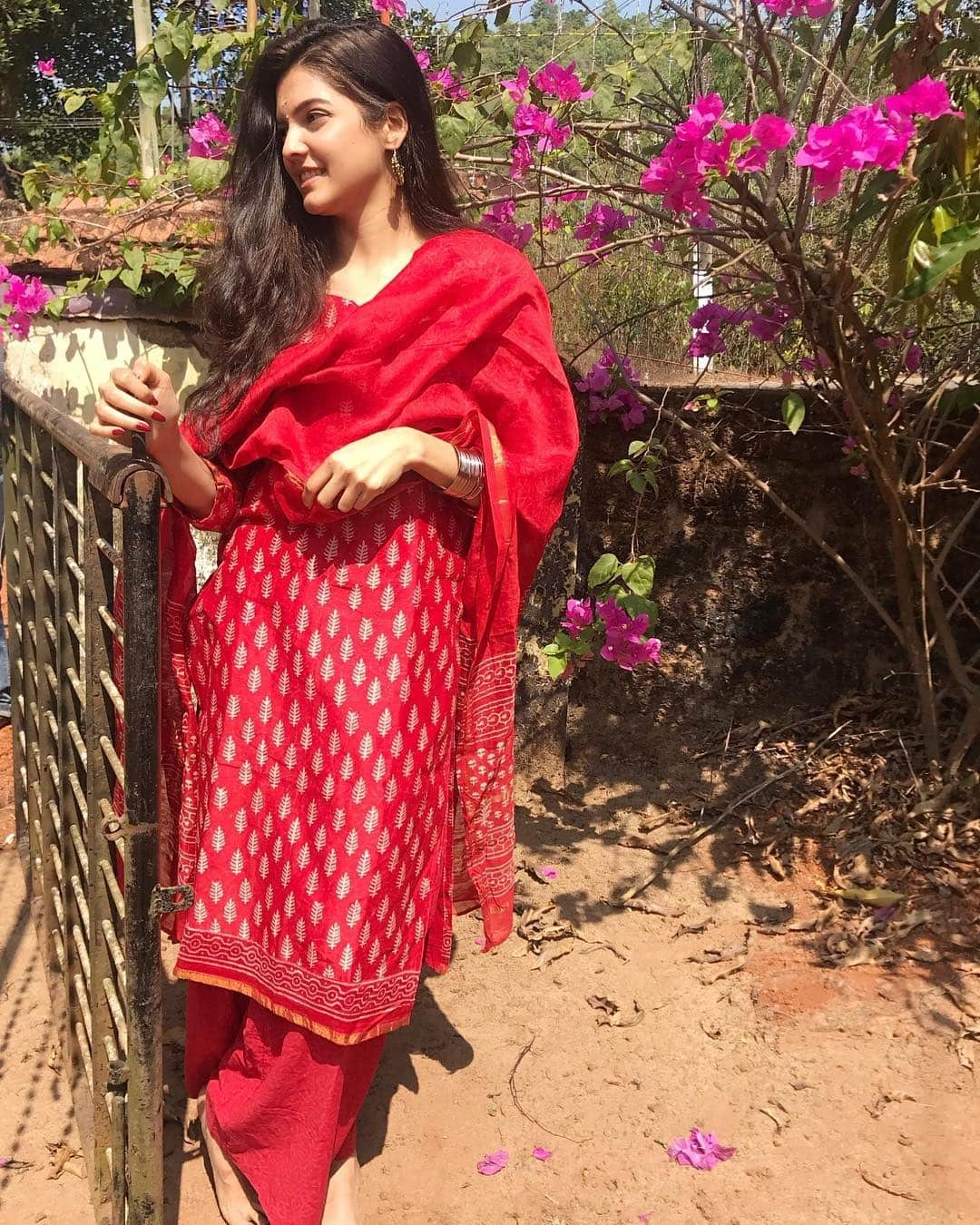 Ashrita Shetty in Red is Unmissable   Tamil Actress is Manish Pandey s Wife