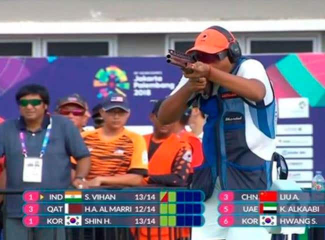 Asian Games 2018  15 Year Old Shardul Vihan Bags Silver in Double Trap