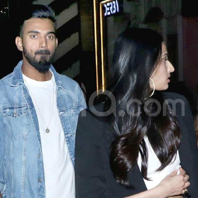 Athiya Shetty and KL Rahul dine out in Mumbai