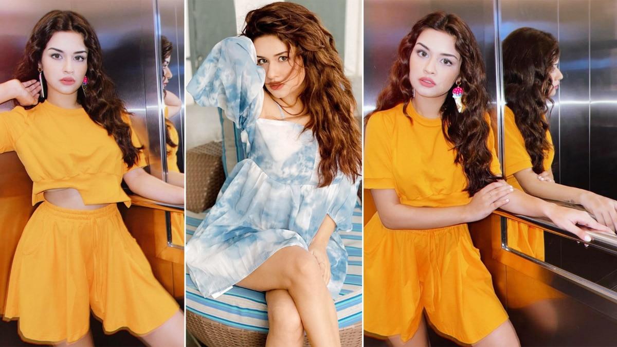 Avneet Kaur Goes Sultry In Orange Co ord Dress