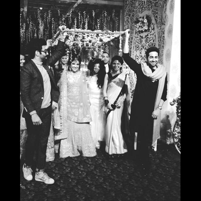 Ayushmann Khurrana at sister   s wedding in Chandigarh