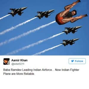 Yoga guru Baba Ramdev trolled on twitter with his latest magazine cover picture
