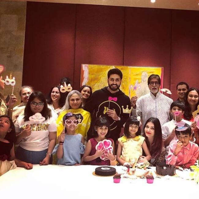 Bachchan s celebrate Aaradhya s birthday