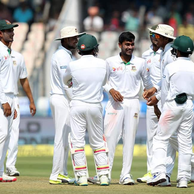 Bangladesh trail India by 646 runs during ongoing one off Test against Bangladesh in Hyderabad