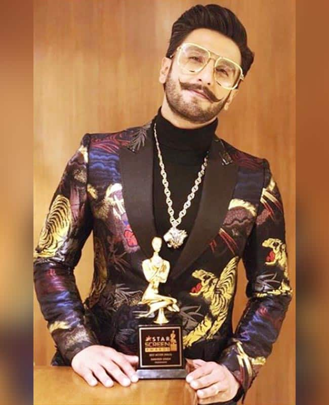 Best Actor  Ranveer Singh for Padmaavat