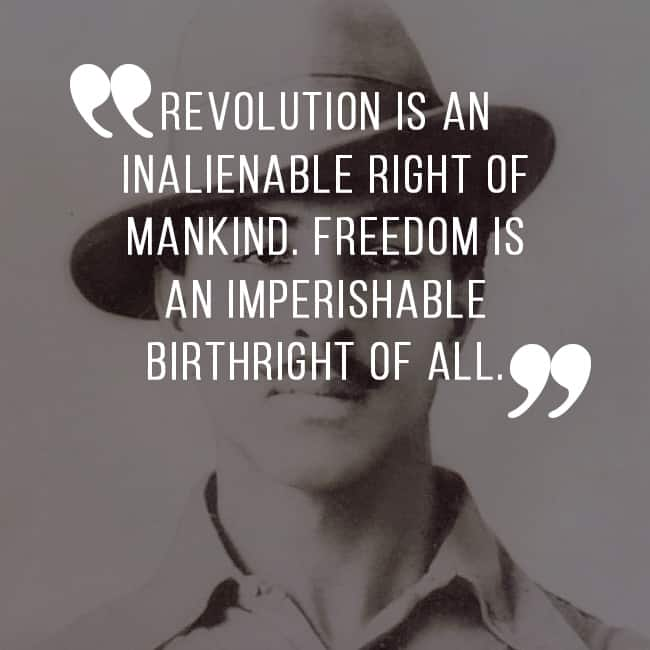 Bhagat Singh S Quote On Indian Revolution 10 Patriotically