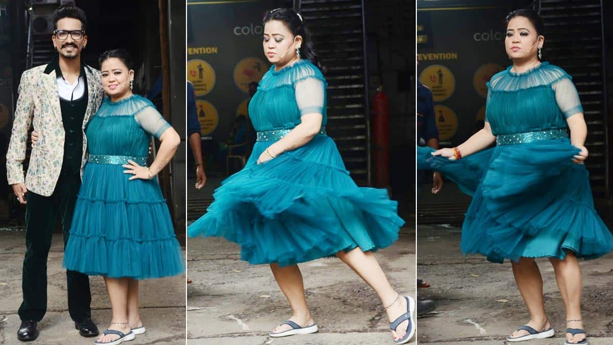 Bharti Singh looks incredible in a blue dress after losing weight
