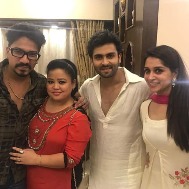 Bharti Singh with boyfriend and Dipika Singh with boyfriend Shoaib