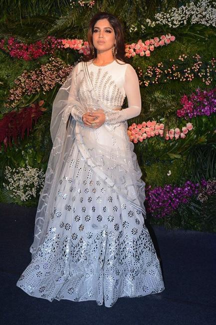Bhumi Pednekar in Falguni and Shane Peacock at Anushka Sharma   s wedding reception