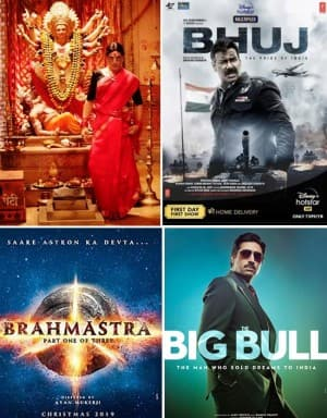 List of Big Bollywood Films to be Releasing on OTT Platforms This Year