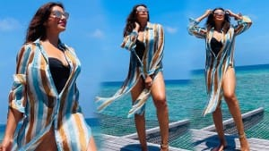 Bipasha Basu Goes Bold in Black Monokini, Flaunts an Hour-Glass Figure in Pics From Maldives