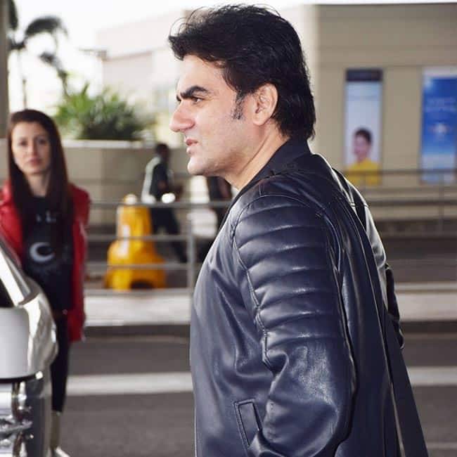 Bollywood actor Arbaaz Khan spotted at the airport looking dapper