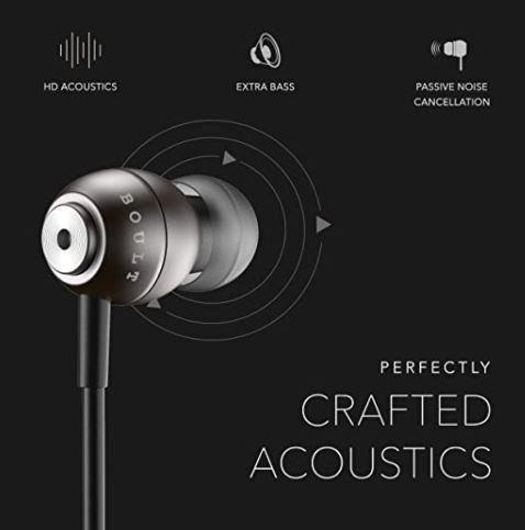 Boult Audio BassBuds Storm in Ear Wired Earphones