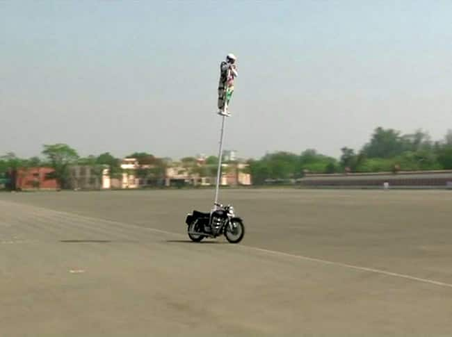 BSF volunteer trying to create a record in bike