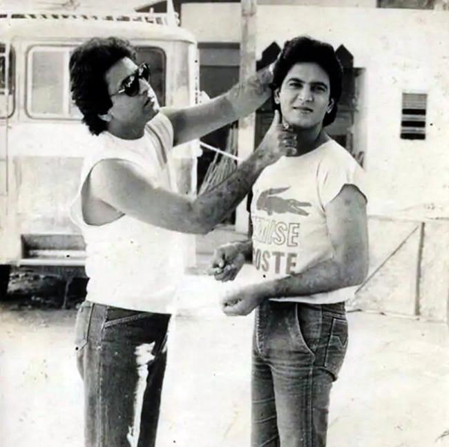 Candid Picture of Arun Govil and Ramayan's Lakshman aka Sunil Lahri
