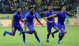 Indian Super League 2019-20: Amine Chermiti's Late Goal Provides Mumbai City FC First Points of Season  vs Kerala Blasters FC
