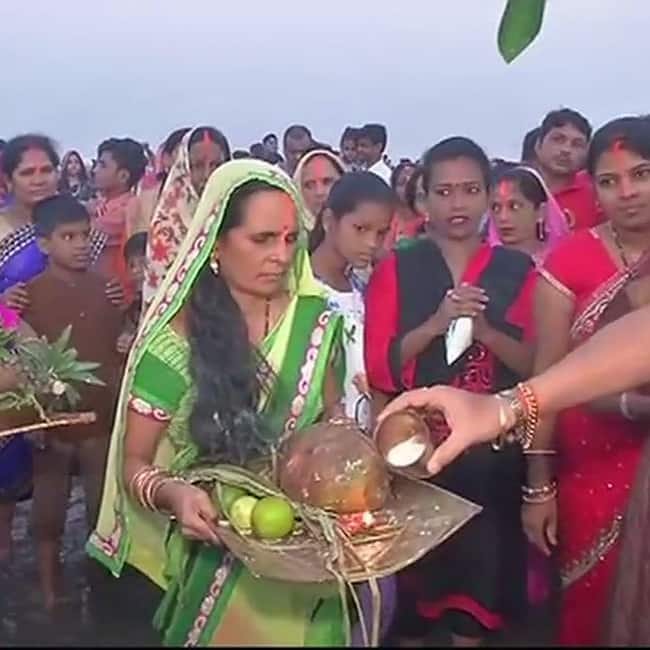 Chhath Puja celebrations at early morning in north Indian states