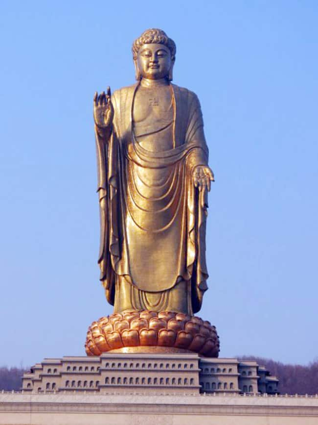 China   s Spring Temple Buddha  420 feet high atop another 66 feet of pedestal