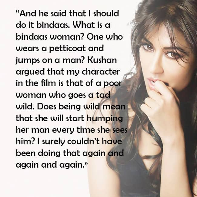 Chitrangada Singh reveals how she was traumatized for a sex scene by director