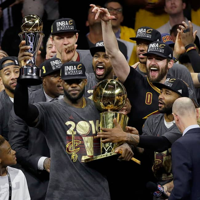 Cleveland Cavaliers won the NBA title