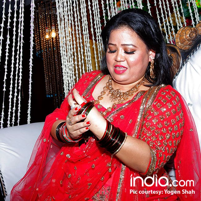 Comedian Bharti Singh snapped at her bangle ceremony