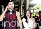 Varun Dhawan Clicked With Girlfriend Natasha Dalal at The Airport