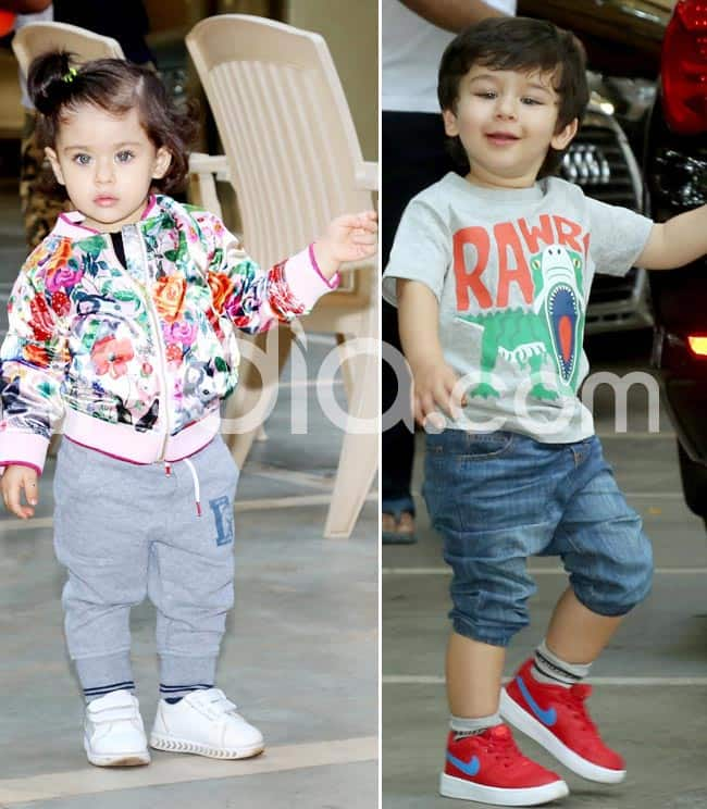 Cuteness Overloaded  Taimur Ali Khan  Inaaya Kemmu Flash Their Million Dollar Smile