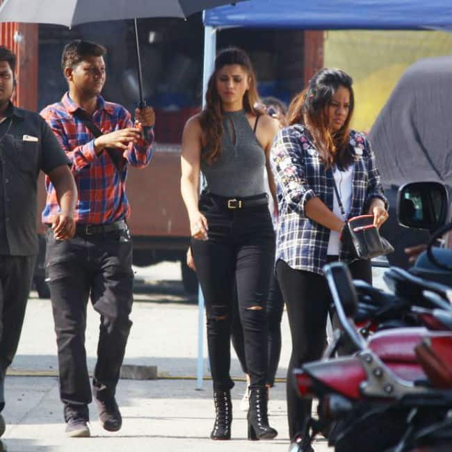 Daisy Shah snapped on sets of Race 3