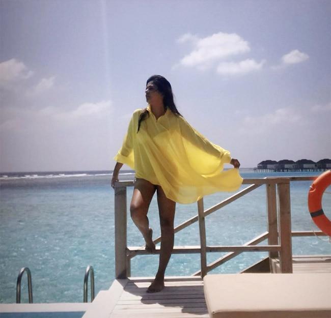 Dalljiet Kaur Raising Heat in Maldives