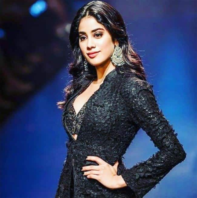 Daughter of Boney Kapoor and late Sridevi  she debuted in the movie Dhadak