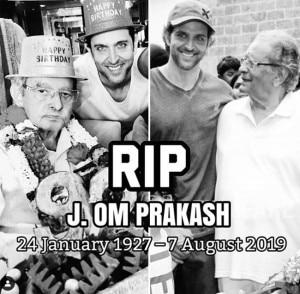Hrithik Roshan Leads Last Rites of Filmmaker-Gradfather Om Prakash in Mumbai