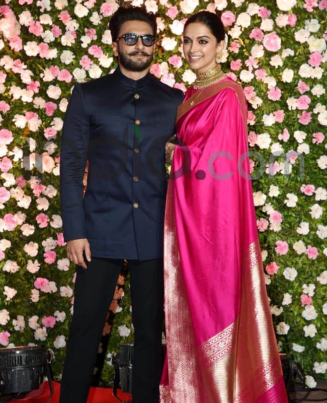 Deepika and Ranveer attend the party