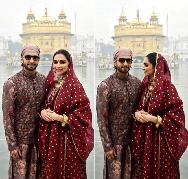 Deepika Padukone and Ranveer Singh at  the Golden Temple