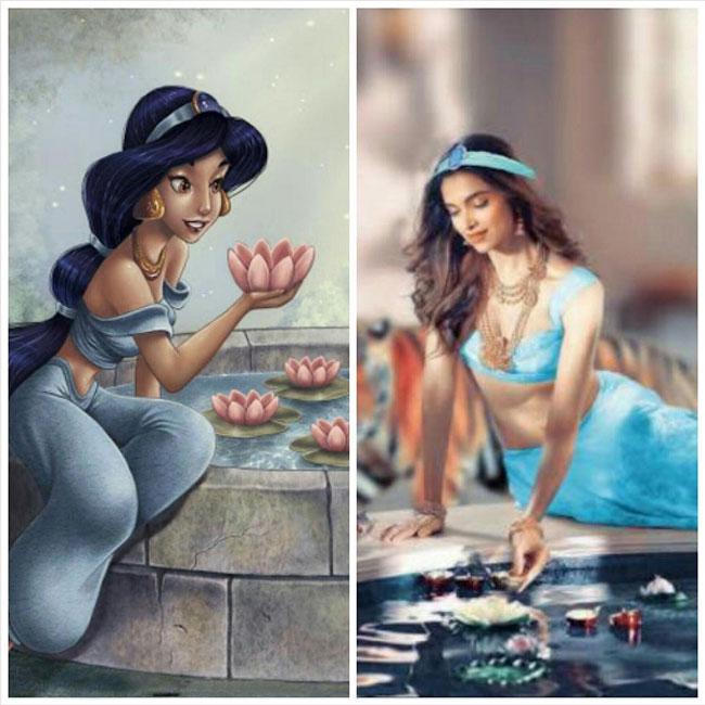 Deepika Padukone as Aladin   s Jasmine character
