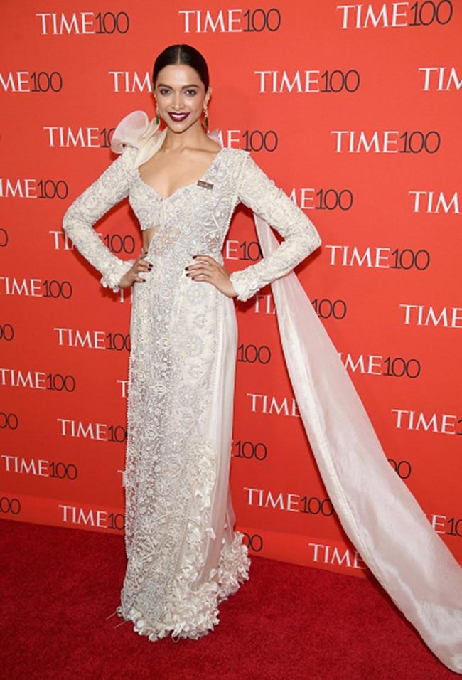Deepika Padukone at red carpet of 2018 Time 100 Gala