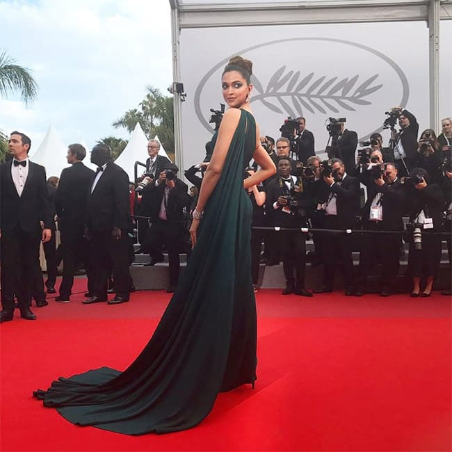 Deepika Padukone at the red carpet of on day 2 of Cannes Film Festival 2017