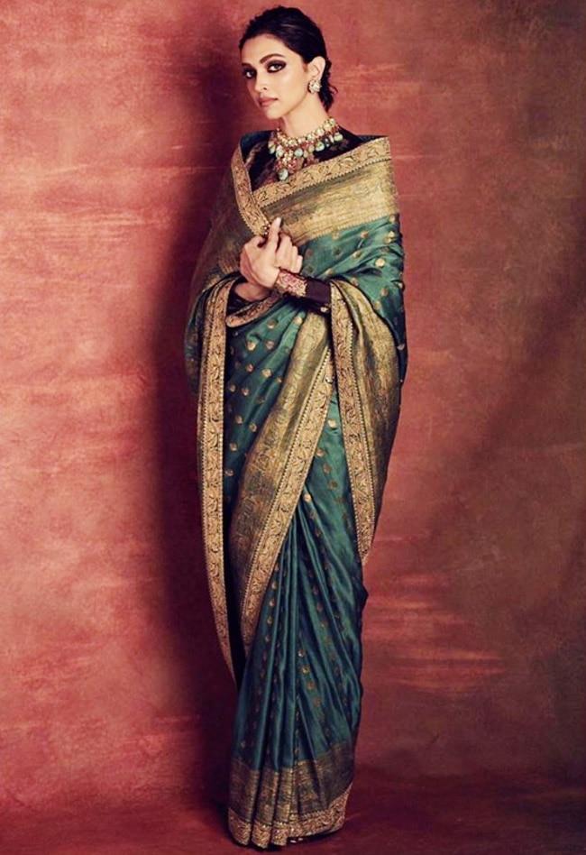 Deepika Padukone s latest Sabyasachi saree | Deepika Padukone Stuns in Another Gorgeous Saree by Sabyasachi - Viral Photos | Celebs Photo Gallery | India.com Photogallery
