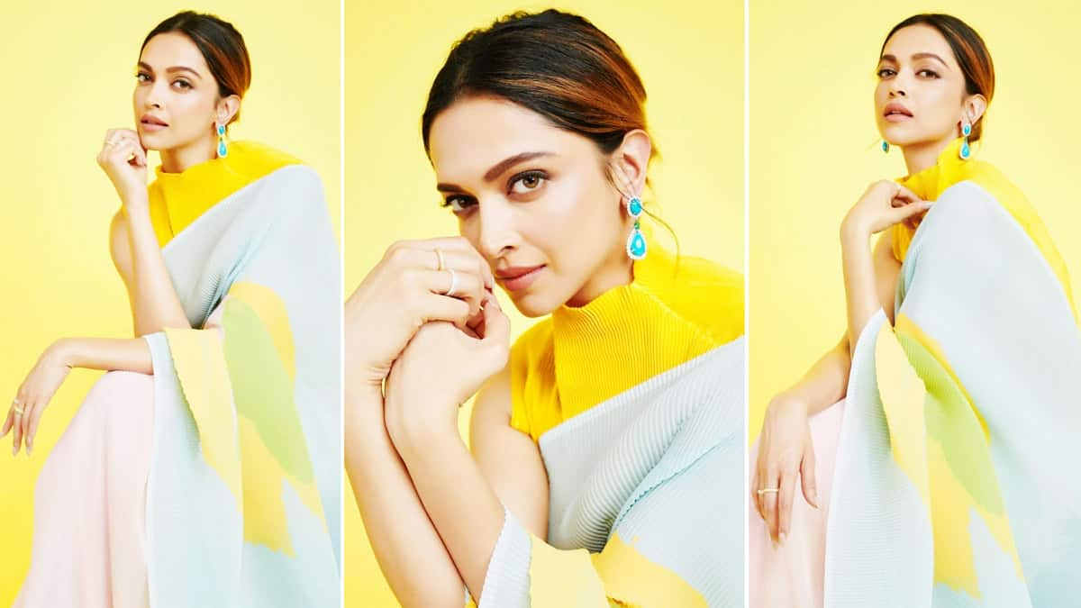 Deepika Padukone looks both elegant and stylish in her colourful saree