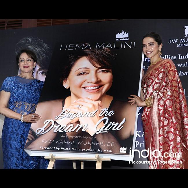 Deepika Padukone unveils Hema Malini   s autobiography