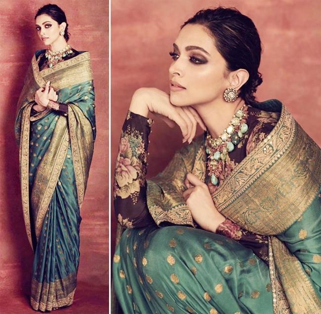Deepika Padukone Stuns in Another Gorgeous Saree by Sabyasachi - Viral Photos