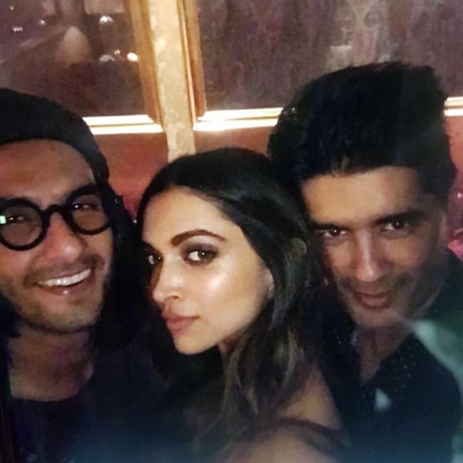 Deepika Padukone   s selfie with Ranveer Singh and Manish Malhotra