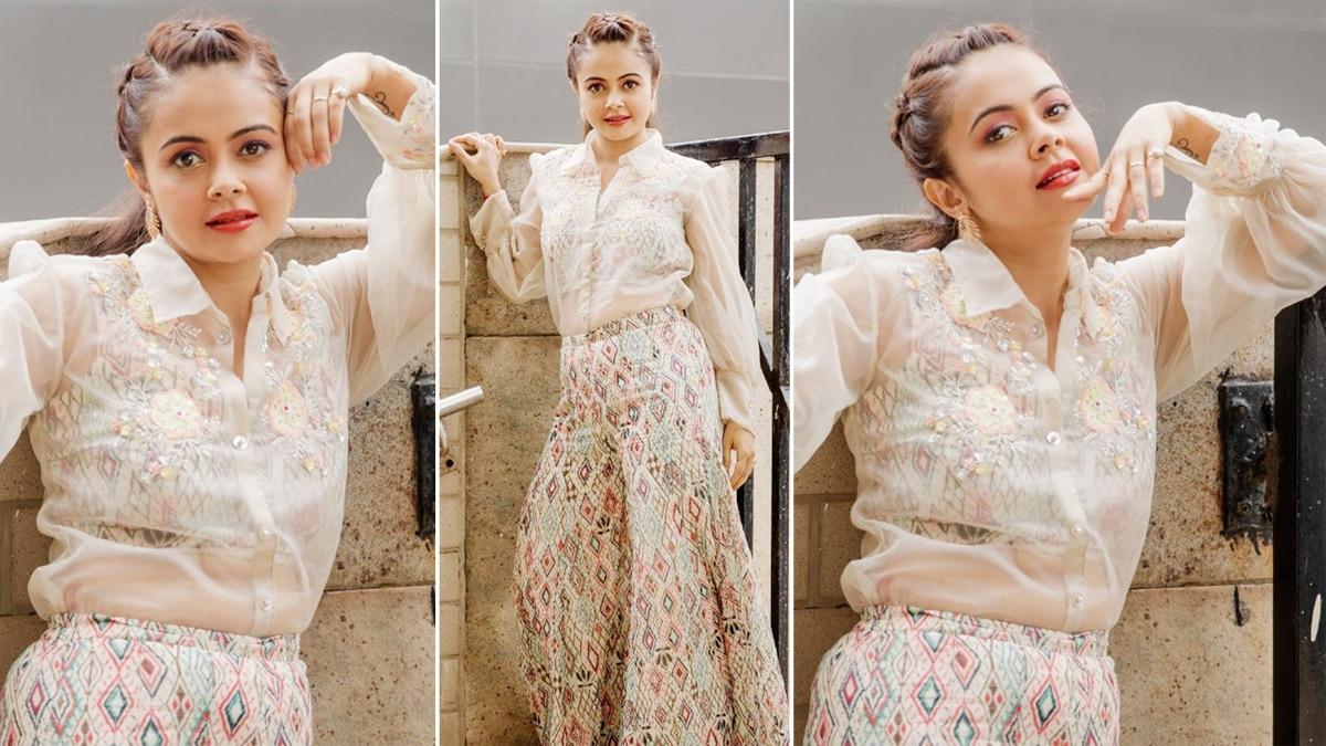 Devoleena Bhattacharjee Reflects Her Inner Elegance in All White Outfit