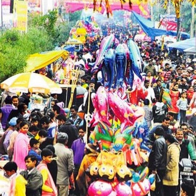 Devotees celebrating Guru Ravidas    640th birth anniversary