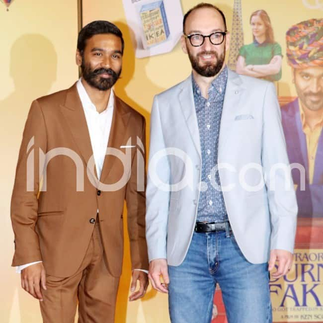 Dhanush strikes a pose with director Ken Scoot