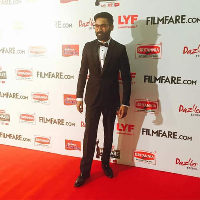Dhanush   s red carpet appearance at 63rd Britannia Filmfare South Awards