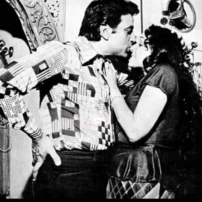 Dharmendra embracing Hema Malini